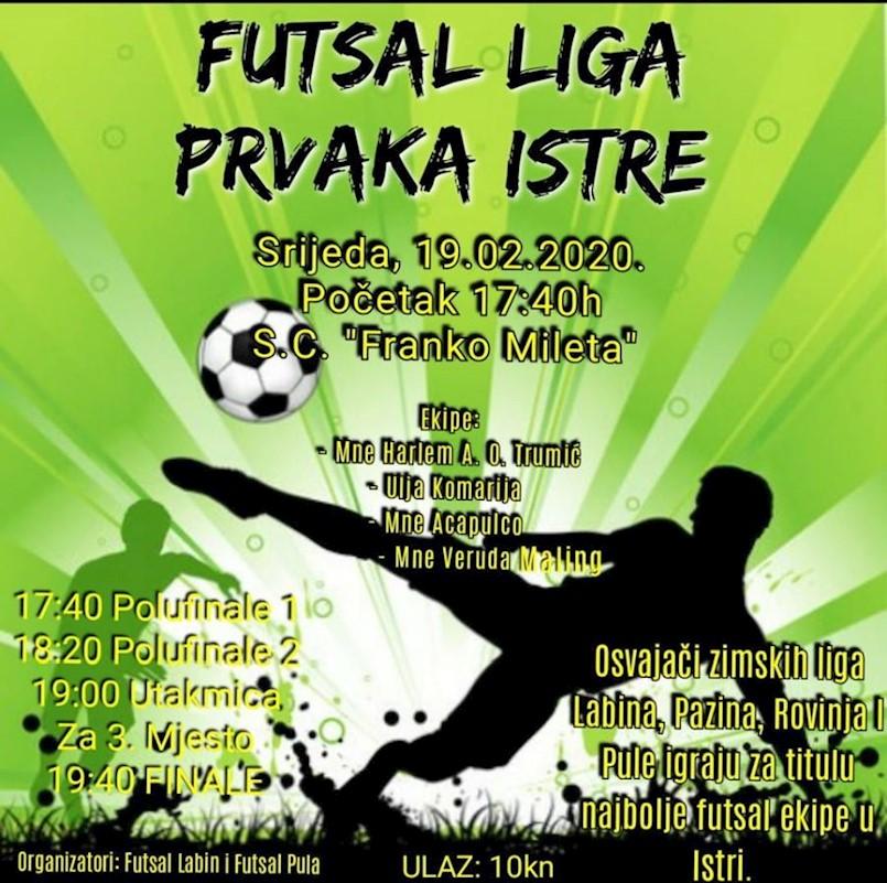 Labin domaćin finalnog turnira najboljih futsal momčadi Istre