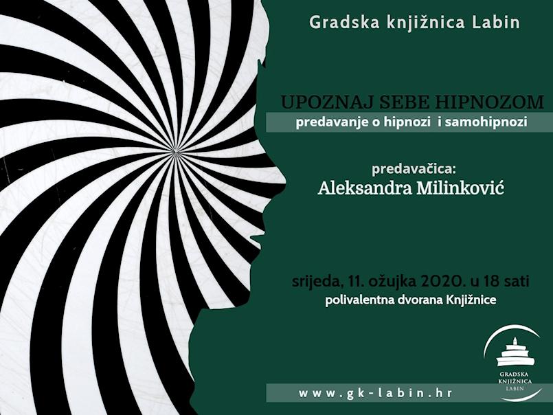 [NAJAVA] Predavanje o hipnozi i samohipnozi 11. ožujka 2020. u Gradskoj knjižnici Labin