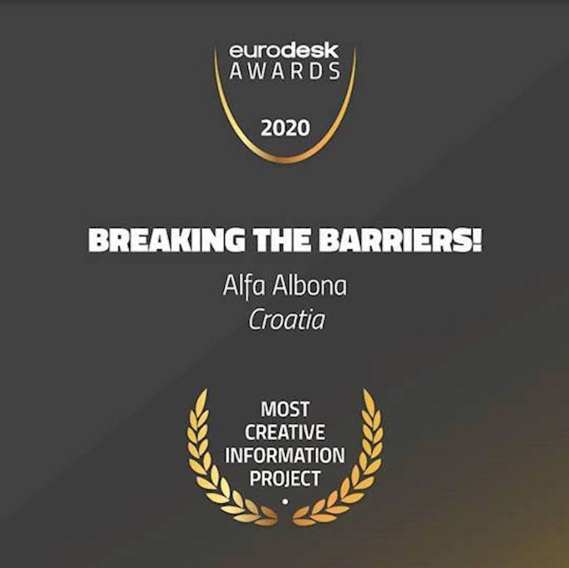 Udruga Alfa Albona iz Labina dobitnica prestižne nagrade Eurodeska