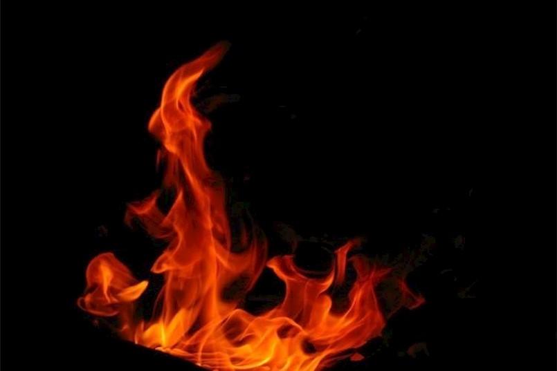 Požar trgovine u Rapcu