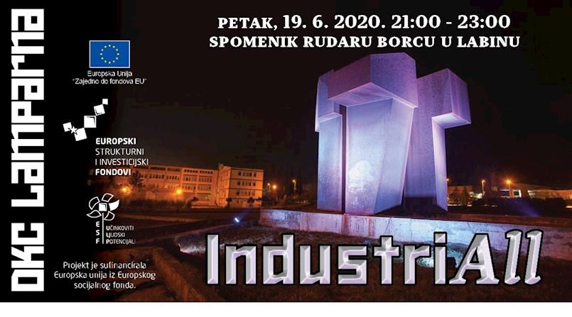 "Izložba GIF animacija ""IndustriaAll"" / Labin, Spomenik Rudaru borcu, 19. lipanj 2020., 21:00 – 23:00"