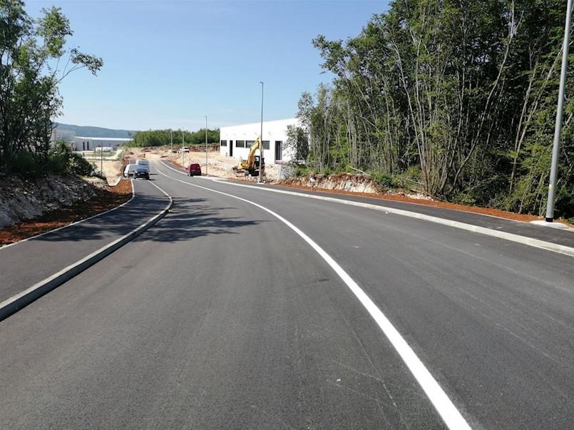 Poslovna zona Vinež: Izgrađena nova prometnica i pripadajuća infrastruktura