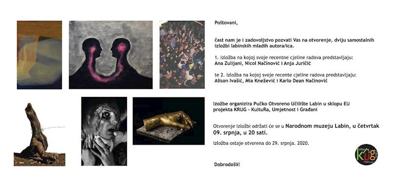 Otvorenje izložbi mladih umjetnika u sklopu projekta KRUG – Kultura, Umjetnost i Građani