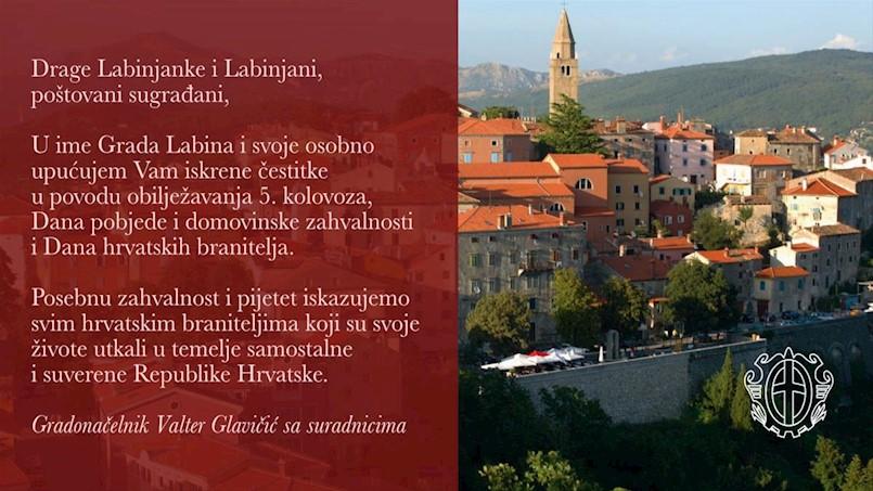 Čestitka Gradonačelnika za Dan pobjede i domovinske zahvalnosti i Dan hrvatskih branitelja