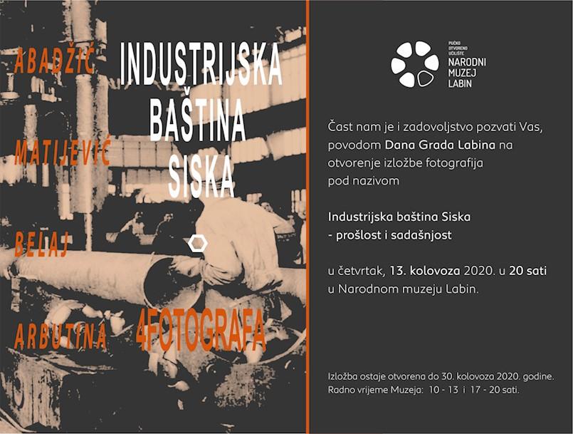 Poziv na izložbu: Industrijska baština Siska – prošlost i sadašnjost