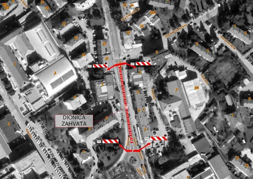 Od sutra zatvoren promet kroz Zelenice, grade se usporivači prometa