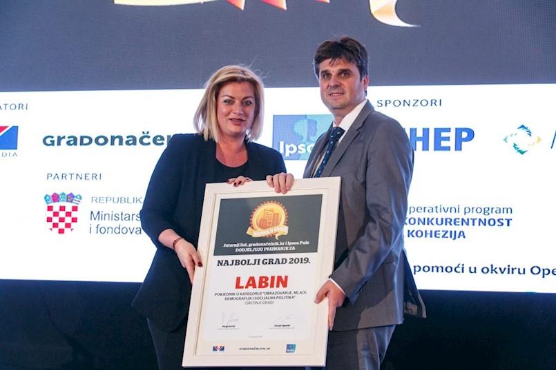 Labin brani titulu najboljeg srednjeg grada u RH u kategoriji obrazovanja i mladih!