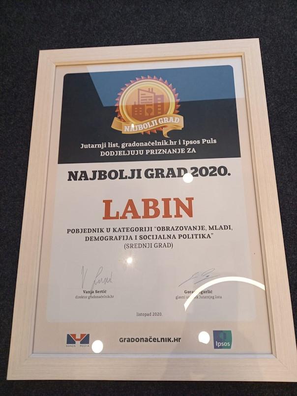 Labin obranio titulu najboljeg grada!