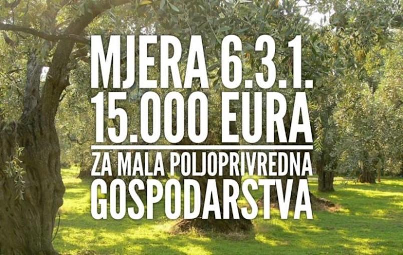 """LAG """"Istočna Istra"""" objavio je natječaj za provedbu tipa operacije 1.2.2. Potpora razvoju malih poljoprivrednih gospodarstava"""