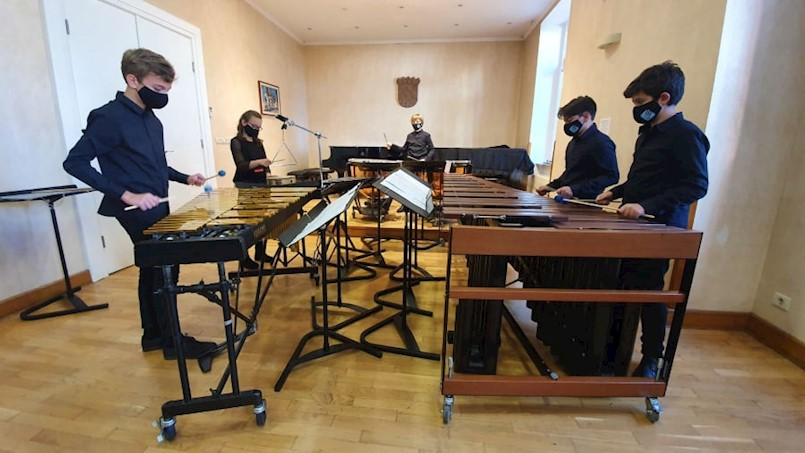 Kvintet udaraljki Bum Bam labinske Umjetničke škole prvi na županijskom natjecanju komornih sastava