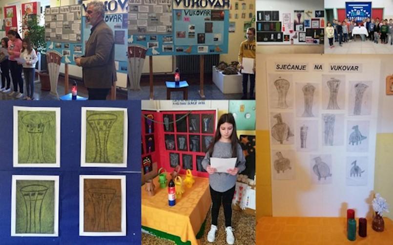 Učenici OŠ Ivo Lola Ribar obilježili Dan sjećanja na žrtve Domovinskog rata i Dan sjećanja na žrtvu Vukovara i Škabrnje