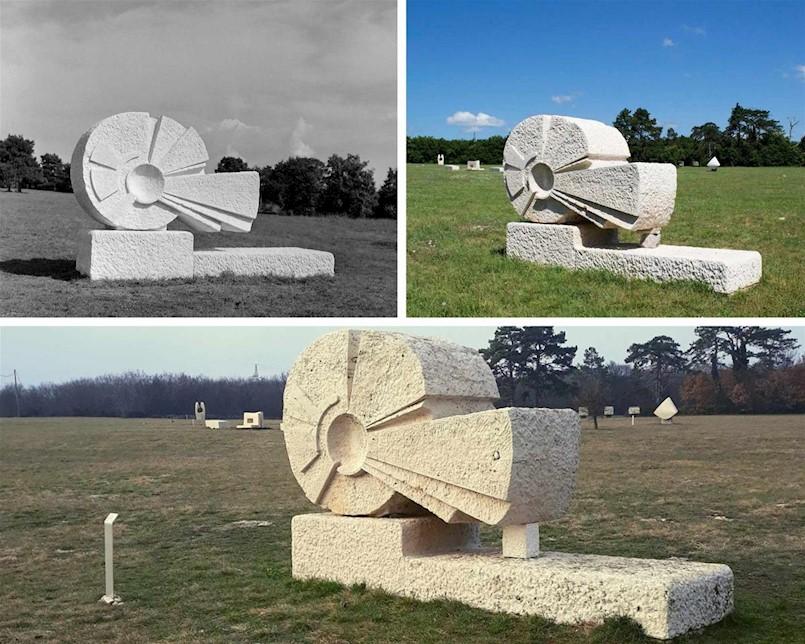 Sanirane skulpture kipara Ante Jakića i Nine Cassania u Parku skulptura Dubrova