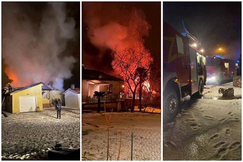 GROM UDARIO U DIMNJAK I IZAZVAO POŽAR: Izgorjela obiteljska kuća u Nedešćini