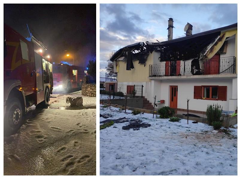 Marinu Ivančiću sinoć uslijed udara groma izgorjela obiteljska kuća u Nedešćini: Šteta je potpuna, MORAMO SE SADA SNAĆI GDJE ĆEMO ŽIVJETI!