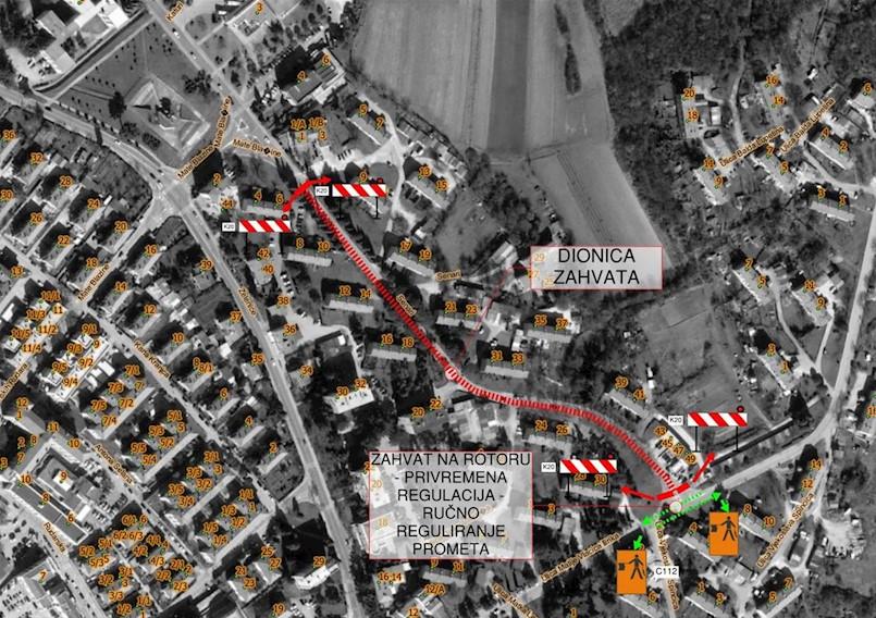 Od sutra zbog radova zatvoren dio Ulice Senari