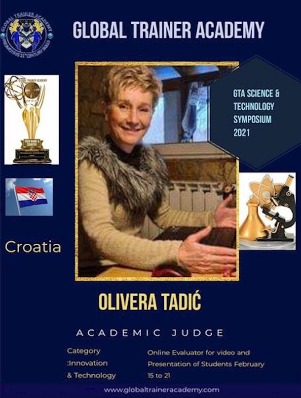 Olivera Tadić ocjenjivačica na međunarodnom natjecanju Global Trainer Academy