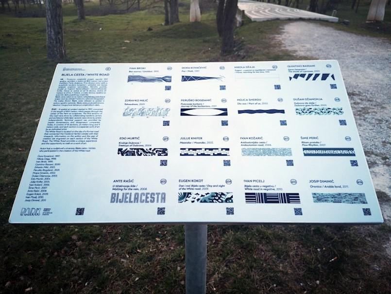 Postavljena informativna tabla za Bijelu cestu