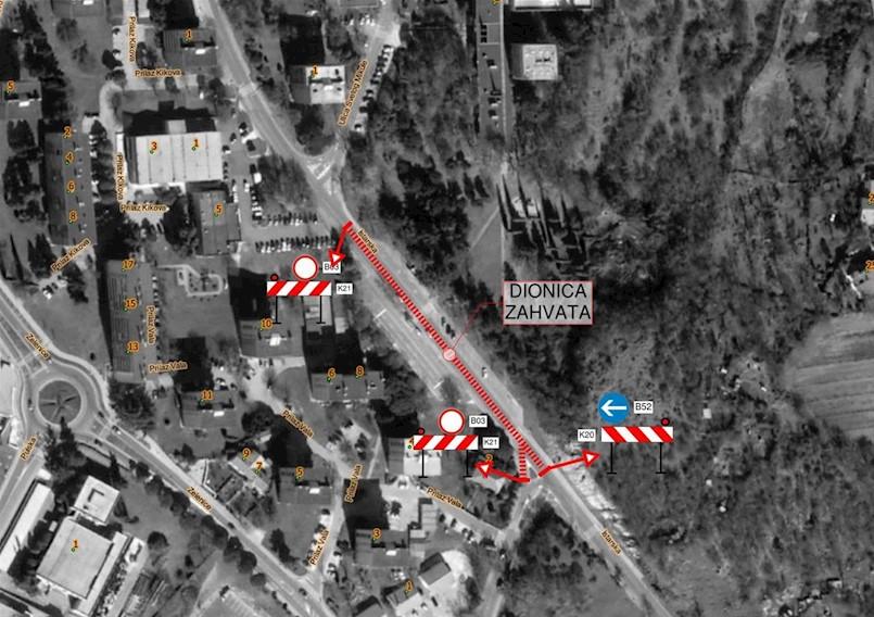 [OBAVIJEST] Nastavljaju se radovi u Istarskoj ulici: od ponedjeljka dio zatvoren za promet