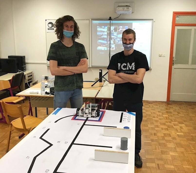 Na online međužupanijskom natjecanju iz Robotike ekipa SŠMB-a osvojila visoko 2. mjesto
