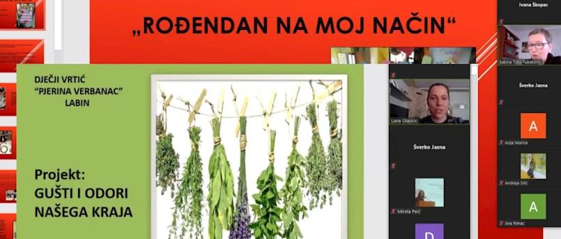 "Dječji vrtić ""Pjerina Verbanac""  predstavio se na Regionalnoj smotri projekata NPOOLJP za predškolski odgoj i obrazovanje"