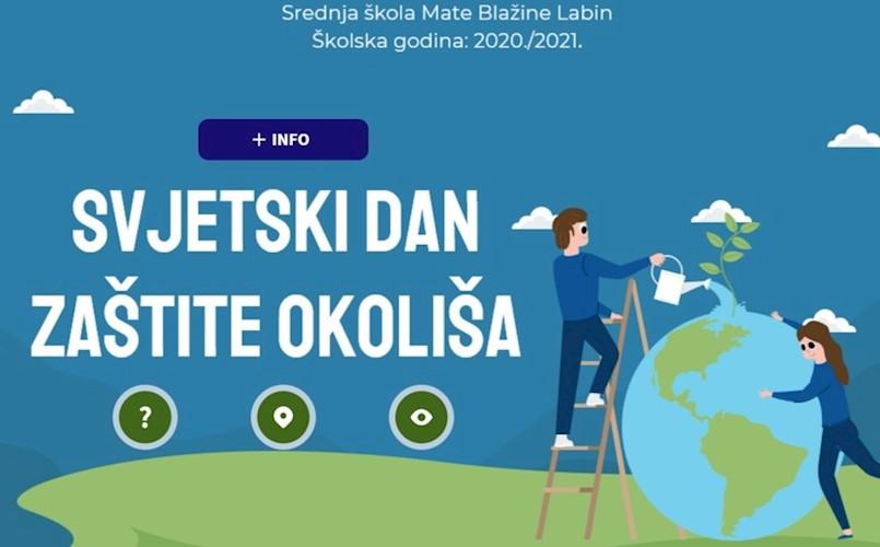 Učenici labinske Srednje škole obilježili SVJETSKI DAN ZAŠTITE OKOLIŠA 5.6.2021. brojnim aktivnostima