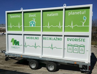 Mobilno reciklažno dvorište od srijede na području Grada Labina, kreće u Rapcu