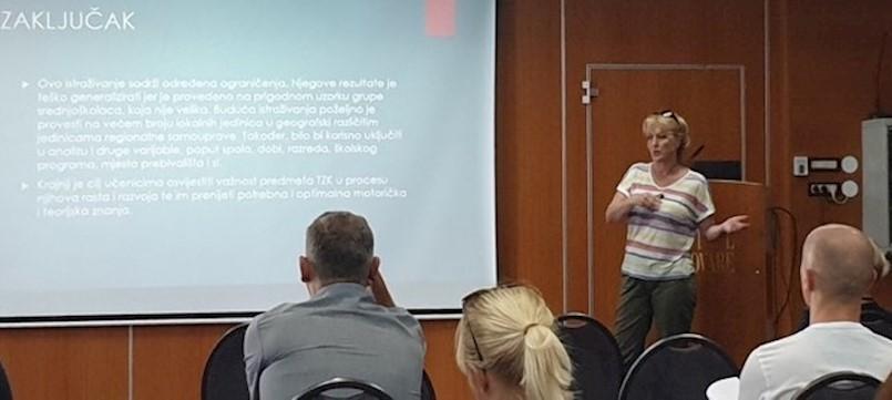 Profesorica Ljiljana Štingl predstavila autorski rad na znanstveno-stručnom skupu 29. ljetne škole kineziologa Hrvatske