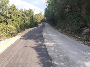 Završeni radovi: cesta za Prtlog sigurnija za sve sudionike u prometu