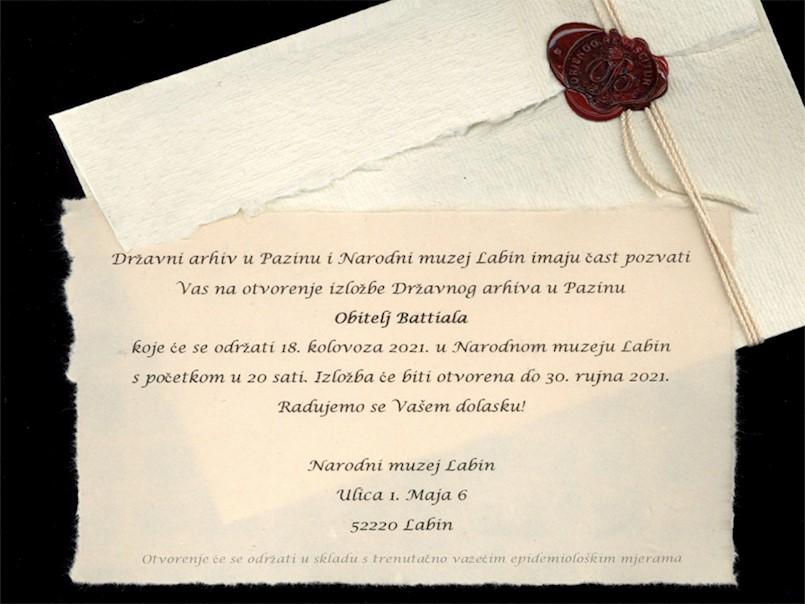 Sutra se u Narodnom muzeju Labin otvara izložba posvećena obitelji Battiala