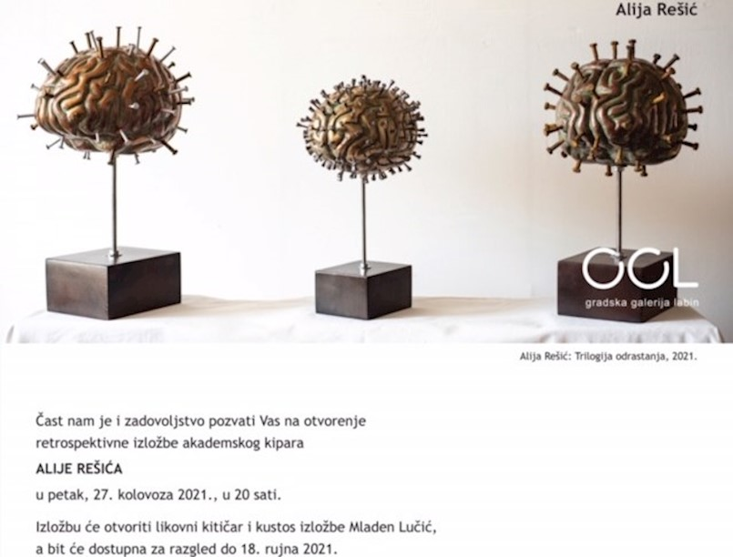 Retrospektivna izložba kipara Alije Rešića u Gradskoj galeriji Labin