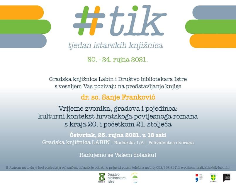 3. Tjedan istarskih knjižnica - predstavljanje knjige dr. sc. Sanje Franković