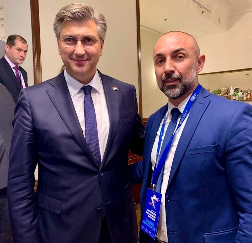 Načelnik Općine Kršan Roman Carić susreo se s premijerom Plenkovićem