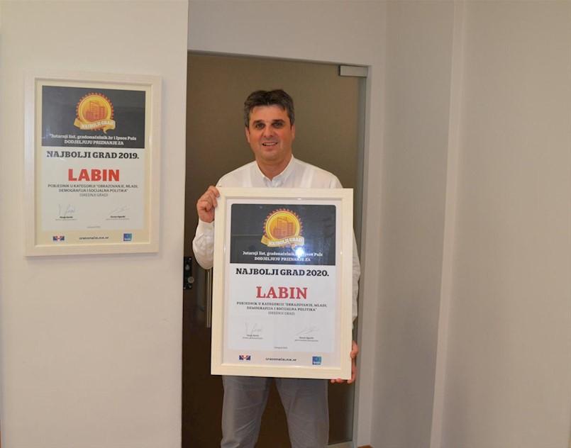 Labinu ponovno priznanje: ušli u najuži izbor za najbolji grad u Hrvatskoj u dvije kategorije