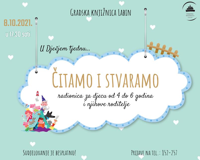 Edukativno-kreativna radionica povodom Dječjeg tjedna u Gradskoj  knjižnici Labin