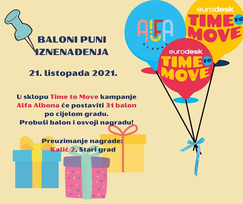 Alfa Albona: Baloni iznenađenja postavljeni po gradu