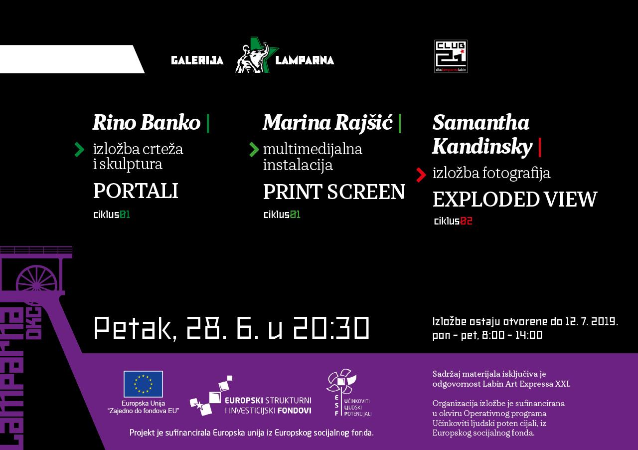 Izložba umjetnica Marine Rajšić, Rina Banka i Samanthe Kandiinsky