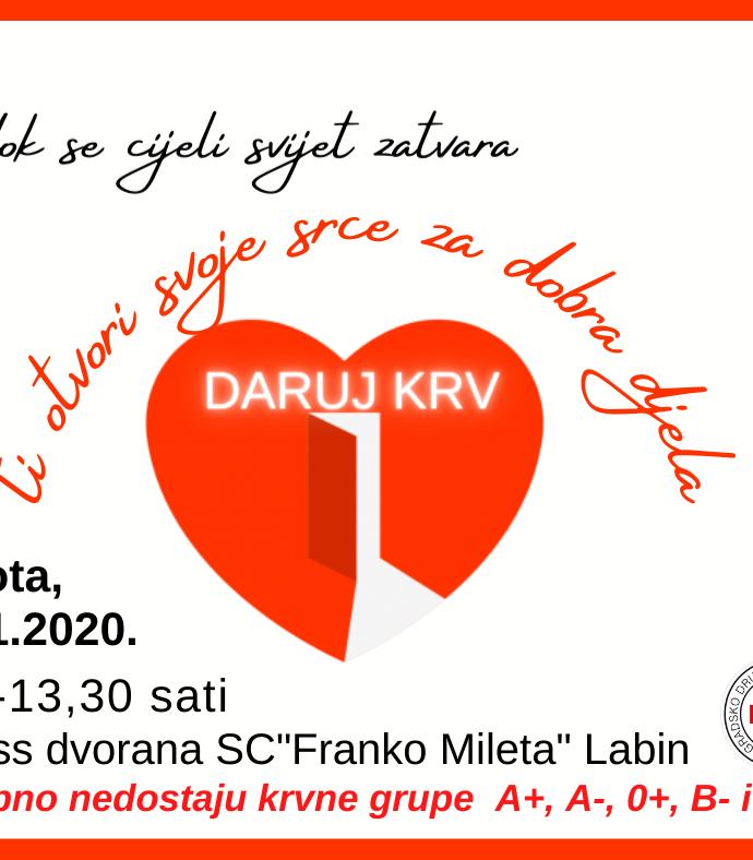 Akcija dobrovoljnog darivanja krvi u Labinu