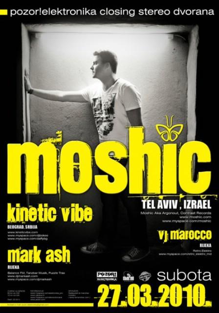 Pozor!Elektronika: DJ Moshic, Kinetic Vibe i Mark Ash u Stereo Dvorani!