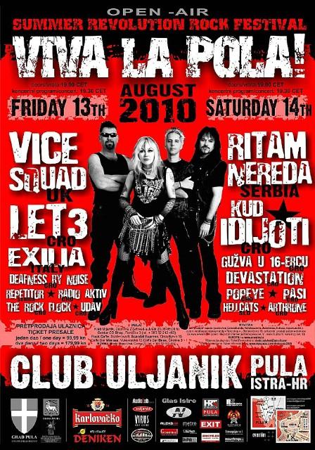 Viva La Pola! 2010 - 13. i 14.08. u klubu Uljanik