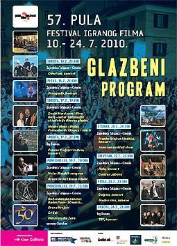 Glazbeni program 57. Pula film festivala 10. - 24. 7. 2010.