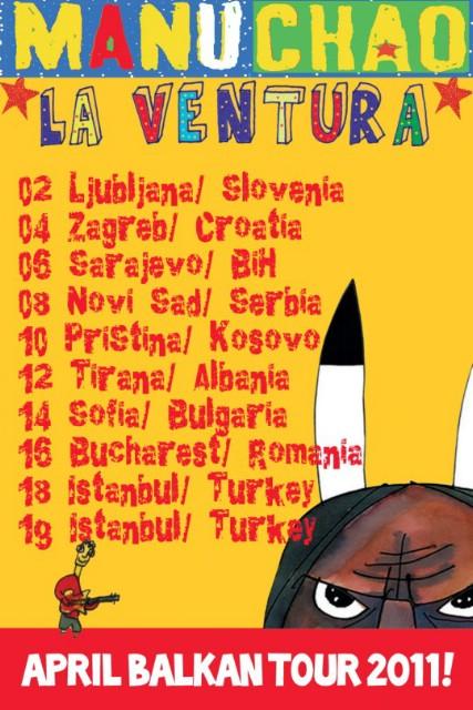 MANU CHAO *LA VENTURA* @ Dom Sportova (Mala Dvorana), Zagreb 04.04.2011.