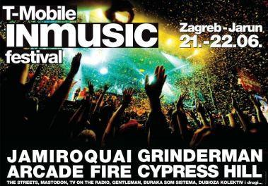 Raspored i satnica T-Mobile INmusic festivala