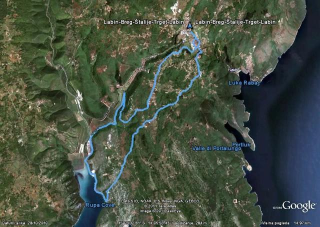 Biciklizam: Labin - Breg- Štalije - Trget - Labin
