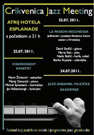 2. Crikvenica Jazz Meeting 2011. od 22. do 24. srpnja