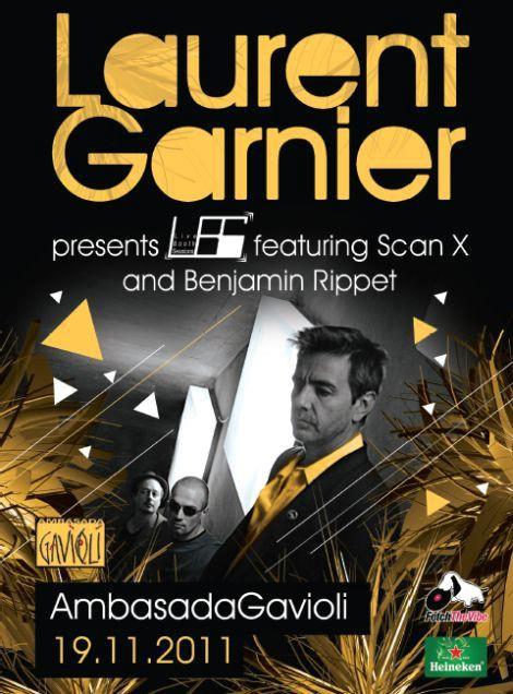 NAGRADNA IGRA: LAURENT GARNIER pres. L.B.S. ft. Scan X & Benjamin Rippert @ Ambasada Gavioli, Izola, Slovenia 19.11.2011.