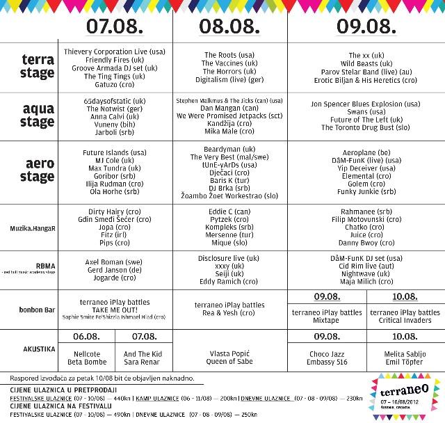 U prodaji dnevne ulaznice za Terraneo + raspored po danima!