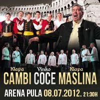 Klape i gosti u pulskoj Areni - mediteranski događaj godine /  8. srpnja u pulskoj Areni, s početkom u 21.30 sati održat će se veliki koncert najboljih hrvatskih klapa i njihovih gostiju
