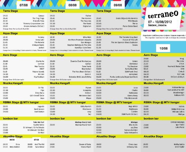 Petak, 10. kolovoza - završni Terraneo party! -kompletna satnica festivala-