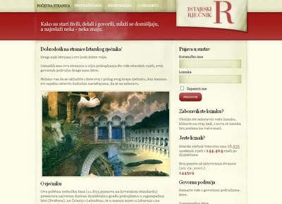 Izrada www.istarski-rjecnik.com pomoću jezikoslovaca i izvornih govornika