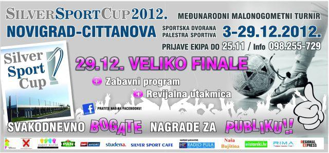 """Prosinac u Novigradu u znaku drugog izdanja međunarodnog futsal turnira """"Silver sport cup 2012"""""""